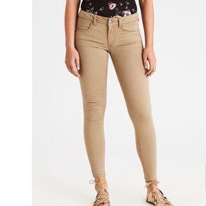 NWOT America Eagle skinny pants sz 8L